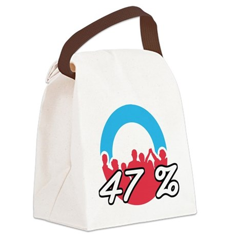 We are the 47 % Canvas Lunch Bag