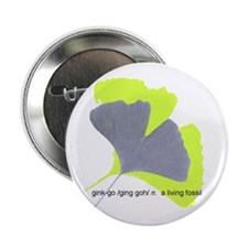 """ginkgo, a living fossil 2.25"""" Button"""