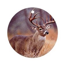 Wildlife Deer Buck Ornament (Round)