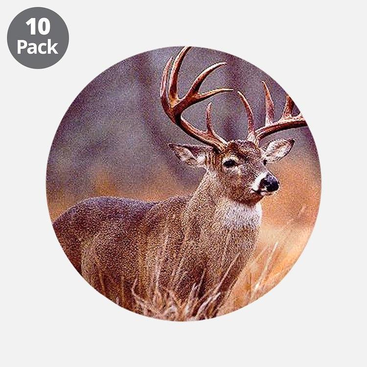 "Wildlife Deer Buck 3.5"" Button (10 pack)"