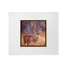Wildlife Deer Buck Throw Blanket