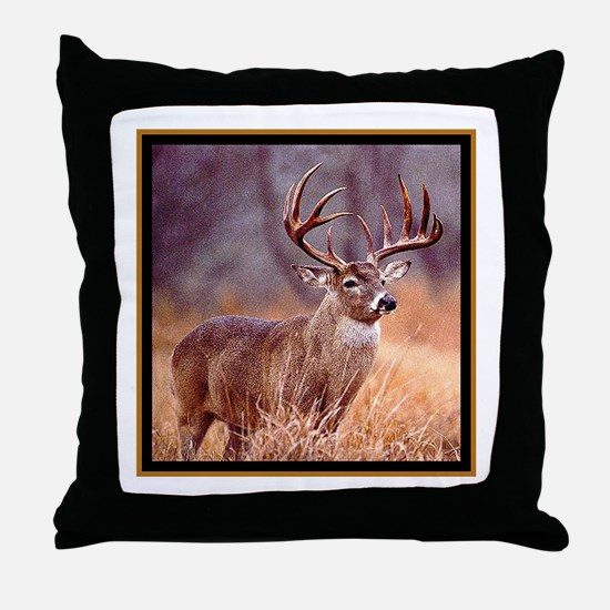 Wildlife Deer Buck Throw Pillow