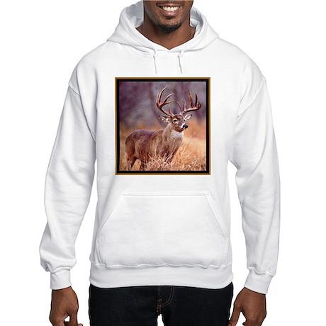 Wildlife Deer Buck Hooded Sweatshirt