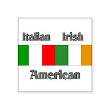 Italian Irish American Rectangle Sticker