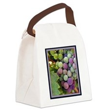 Wine Grapes Canvas Lunch Bag