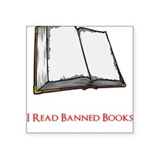 "Banned Books Square Sticker 3"" x 3"""