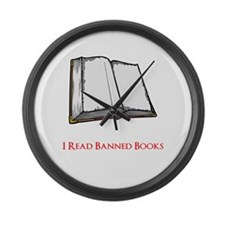 Banned Books Large Wall Clock