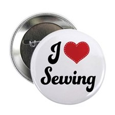 """I Love Sewing 2.25"""" Button"""
