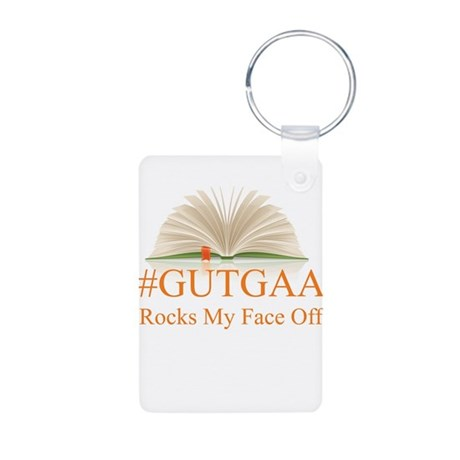 GUTGAA Rocks My Face Off Aluminum Photo Keychain