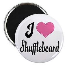 I Love Shuffleboard Magnet