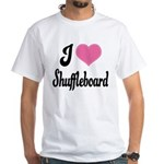 I Love Shuffleboard White T-Shirt
