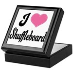 I Love Shuffleboard Keepsake Box
