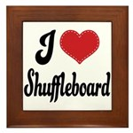 I Love Shuffleboard Framed Tile