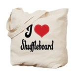 I Love Shuffleboard Tote Bag
