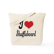 I Love Shuffleboard Tote Bag