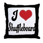 I Love Shuffleboard Throw Pillow