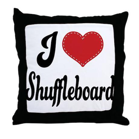 I Love Shuffleboard Throw Pillow