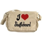 I Love Shuffleboard Messenger Bag