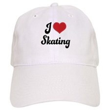 I Love Skating Baseball Cap