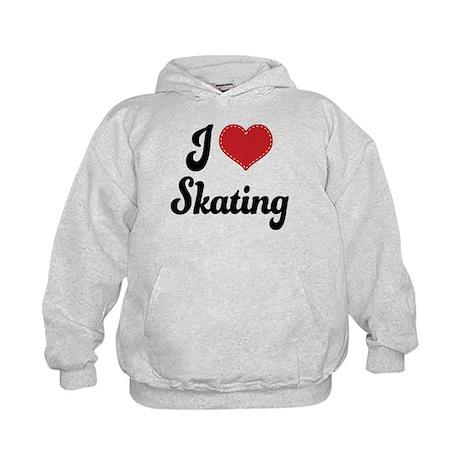 I Love Skating Kids Hoodie
