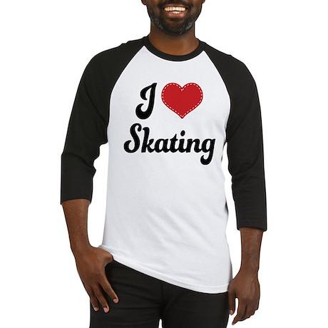 I Love Skating Baseball Jersey