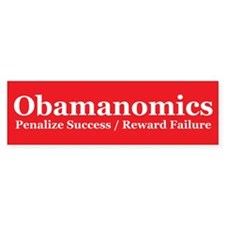 Obamanoics 2012 Election. Obama Sucks Bumper Sticker