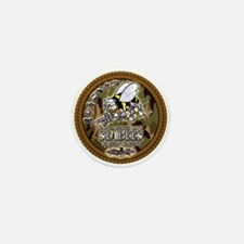 USN Navy Seabees Camo Roped Mini Button