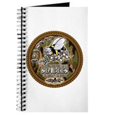 USN Navy Seabees Camo Roped Journal