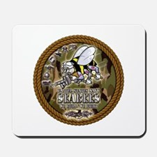 USN Navy Seabees Camo Roped Mousepad