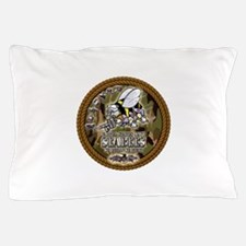 USN Navy Seabees Camo Roped Pillow Case