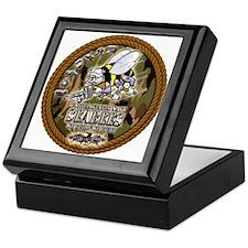 USN Navy Seabees Camo Roped Keepsake Box