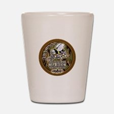 USN Navy Seabees Camo Roped Shot Glass