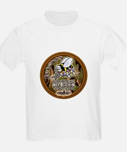 USN Navy Seabees Camo Roped T-Shirt