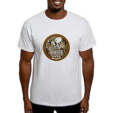 USN Navy Seabees Camo Roped T-Shirt