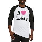 I Love Snorkeling Baseball Jersey