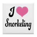 I Love Snorkeling Tile Coaster