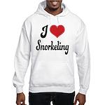 I Love Snorkeling Hooded Sweatshirt