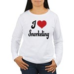 I Love Snorkeling Women's Long Sleeve T-Shirt