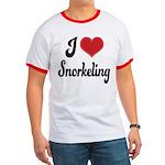 I Love Snorkeling Ringer T