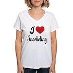 I Love Snorkeling Women's V-Neck T-Shirt