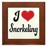 I Love Snorkeling Framed Tile