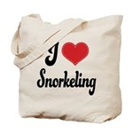 I Love Snorkeling Tote Bag