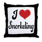 I Love Snorkeling Throw Pillow