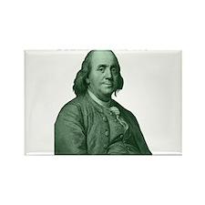Ben Franklin - Hello Ladies Rectangle Magnet