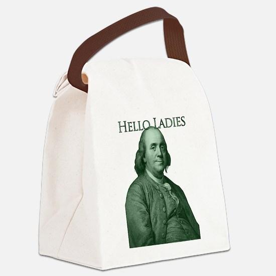 Ben Franklin - Hello Ladies Canvas Lunch Bag
