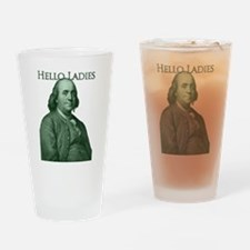 Ben Franklin - Hello Ladies Drinking Glass