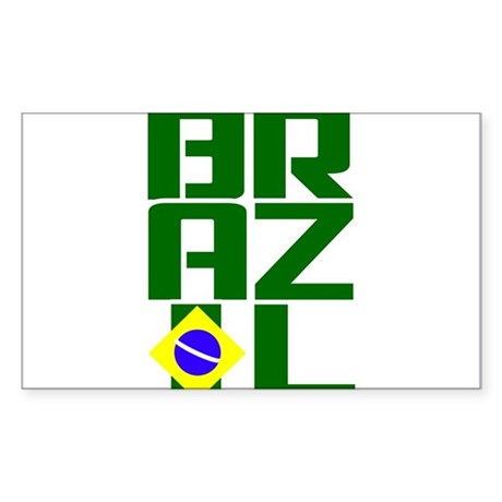 Brazil Sticker (Rectangle)