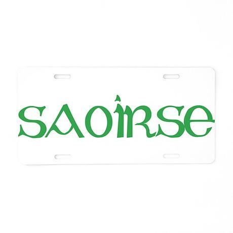 Saoirse Aluminum License Plate