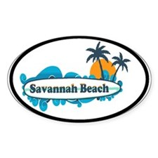 Savannah Beach GA - Surf Design. Decal