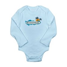 Savannah Beach GA - Surf Design. Onesie Romper Suit